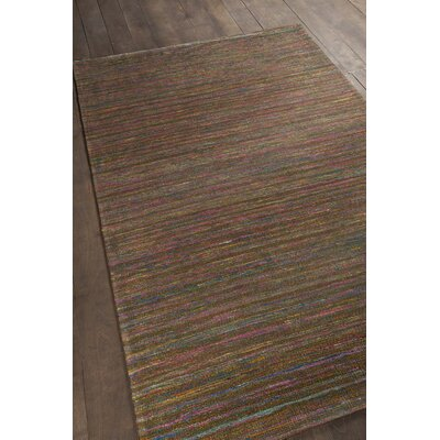 Cabarley Dhurrie Brown Area Rug Rug Size: 79 x 106