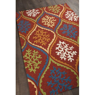 Athina Patterned Red Area Rug Rug Size: 5 x 76