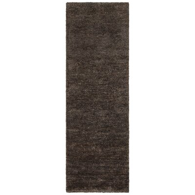 Urbana Black/Gray Area Rug Rug Size: Runner 26 x 76