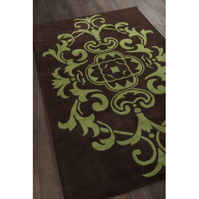 Venitian Brown/Green Area Rug Rug Size: 79 x 106