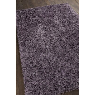 Boomer Hand-Woven Purple Area Rug Rug Size: 79 x 106