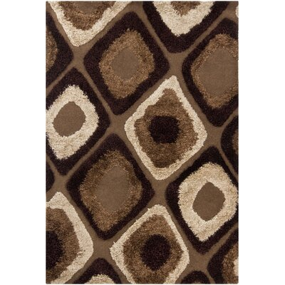 Astrid Brown/Tan Geometric Area Rug Rug Size: 8 x 11