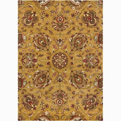 Bajrang Gold/Yellow Area Rug Rug Size: 7' x 10'