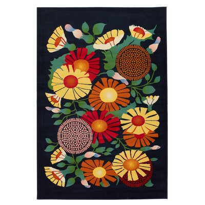 Fruita Flower Novelty Rug Rug Size: 5 x 8