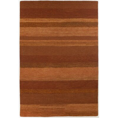 Shauna Rust Stripe Area Rug Rug Size: Rectangle 6 x 9