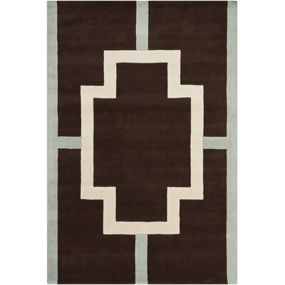 Daquane Cross Black/Tan Area Rug Rug Size: Rectangle 6 x 9