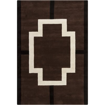 Daquane Cross Black/White Area Rug Rug Size: Rectangle 6 x 9