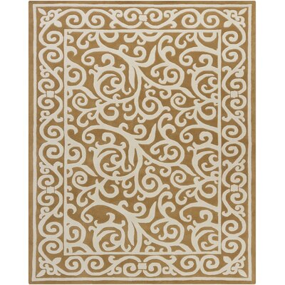 Elvin Swirl Brown/Tan Area Rug Rug Size: Rectangle 6 x 9
