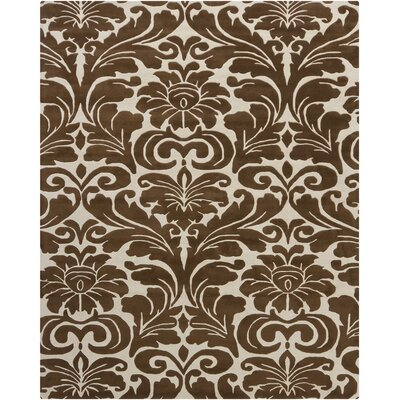 Elvin Brown/Tan Floral Area Rug Rug Size: Rectangle 6 x 9
