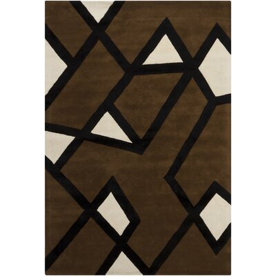 Hanu Brown/Tan Geometric Area Rug Rug Size: 6 x 9