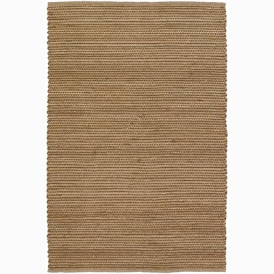 Hemson Brown/Tan Stripe Area Rug Rug Size: 5 x 76