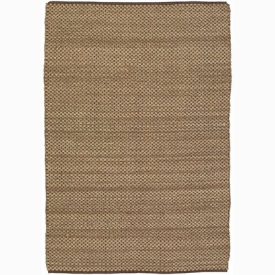 Hemson Brown/Tan Area Rug Rug Size: 79 x 106