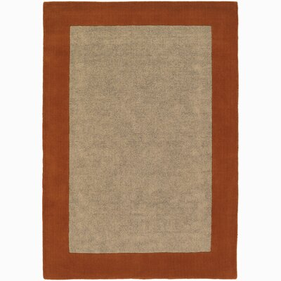 Hickory Red/Beige Area Rug Rug Size: 5 x 76