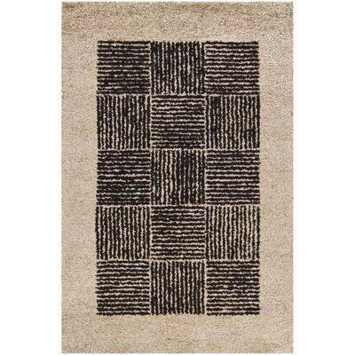 Dupoint Beige/Black Area Rug Rug Size: 5 x 76
