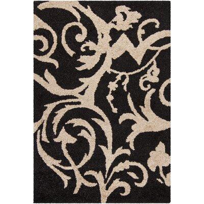 Medford Black/Ivory Area Rug Rug Size: 5 x 76