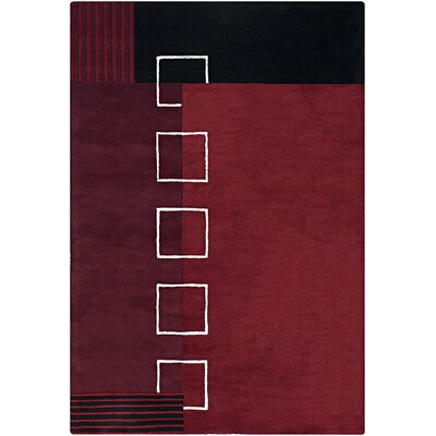 Phair Red/Black Geometric Area Rug Rug Size: 5 x 76