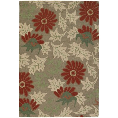 Duryea Flower Leaves Area Rug Rug Size: 5 x 76