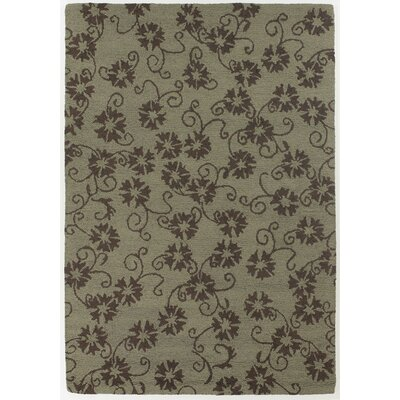 INT Brown/Mocha Floral Leaves Area Rug Rug Size: 79 x 106