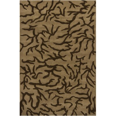 Terry Brown/Mocha Area Rug Rug Size: 79 x 106