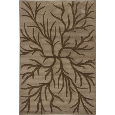 INT Brown/Mocha Area Rug Rug Size: 79 x 106