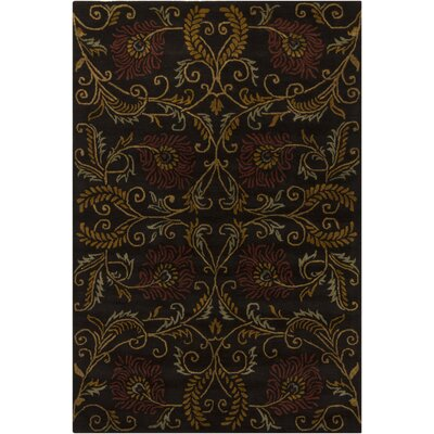 Cayman Brown Floral Area Rug Rug Size: 79 x 106