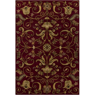 Cayman Red/Tan Area Rug Rug Size: 5 x 76