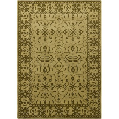 Cayman Green/Beige Area Rug Rug Size: 5 x 76