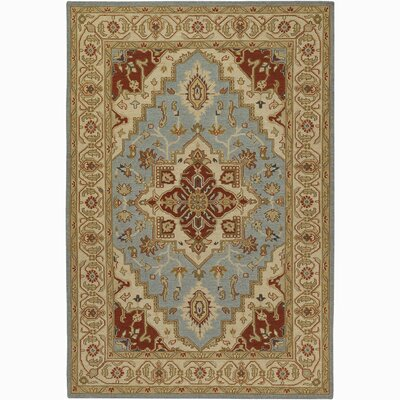 Pooja Brown/Blue Area Rug Rug Size: 5 x 76