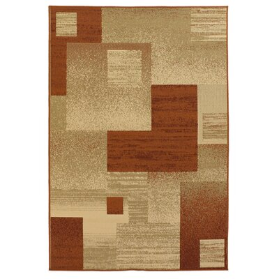 Ryan Floral Brown/Tan Indoor/Outdoor Area Rug Rug Size: 5' x 8'