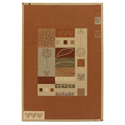 Garris Brown/Tan Indoor/Outdoor Area Rug Rug Size: 8 x 11