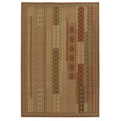 Nwokoro Brown Indoor/Outdoor Area Rug Rug Size: 5 x 8