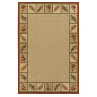 Ryan Leaves Indoor/Outdoor Rug Rug Size: 5 x 8