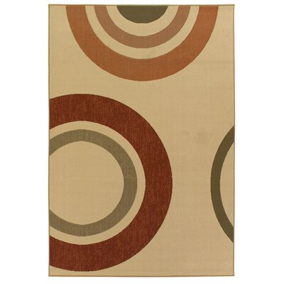 Brynie Circles Indoor/Outdoor Area Rug Rug Size: 5 x 8