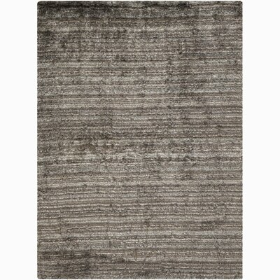 Cyrill Gray Stripe Area Rug Rug Size: 79 x 106