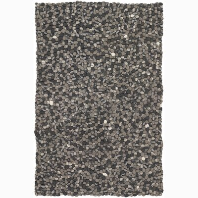 Alice Black/Gray Area Rug Rug Size: 79 x 106