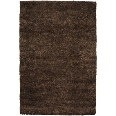 Strata Dark Brown Area Rug Rug Size: 79 x 106