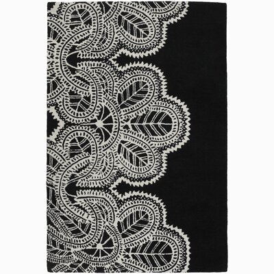 Areyanna Cactus Black/White Area Rug Rug Size: Rectangle 79 x 106