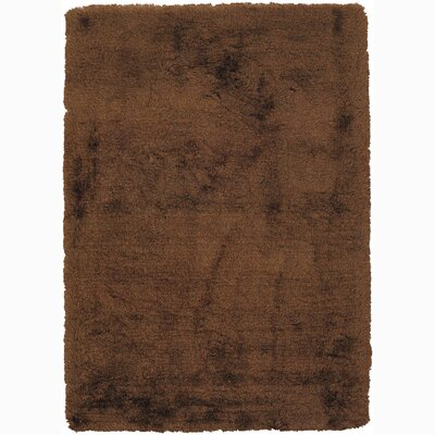Vani Drak Brown Area Rug Rug Size: 7'9