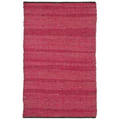 Politte Stripe Red Area Rug Rug Size: 5 x 76