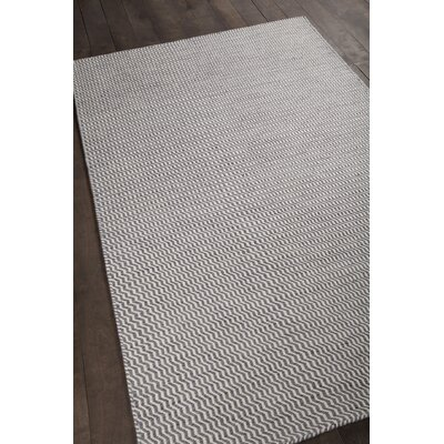 Crest Textured Gray Area Rug Rug Size: 79 x 106
