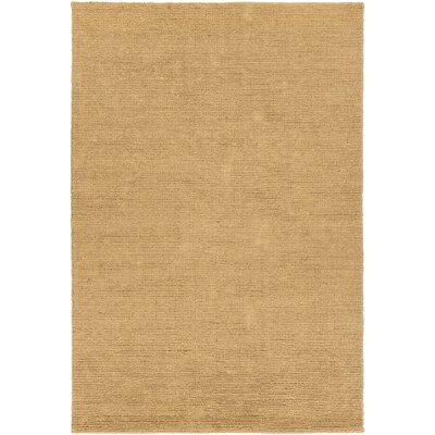 Amco Hand-Woven Gold Area Rug Rug Size: 79 x 106