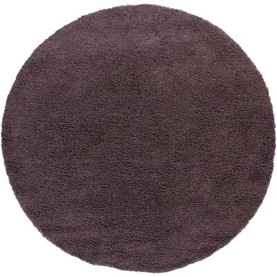 Uni Purple Area Rug Rug Size: Round 79