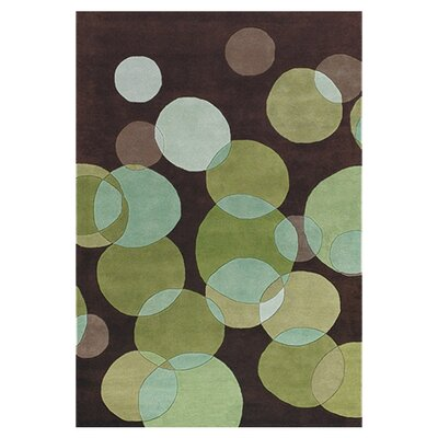 Avalisa Green/Brown Area Rug Rug Size: 79 x 106