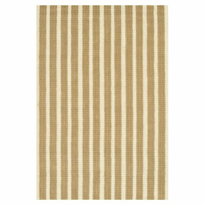 Fayean Brown/Tan Striped Area Rug Rug Size: Rectangle 79 x 106