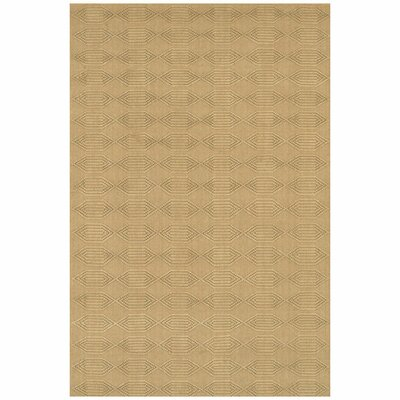 Lee-Abele Brown/Tan Geometric Area Rug Rug Size: Rectangle 79 x 106