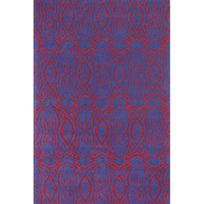 Isa Blue/Red Area Rug Rug Size: Rectangle 2' x 3'