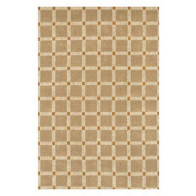 Art Brown/Orange Area Rug Rug Size: 79 x 106