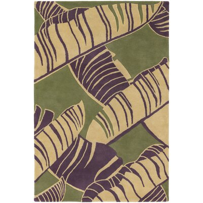 Fitzgerald Green Area Rug Rug Size: Rectangle 79 x 106