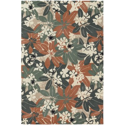 Fitzgerald Orange/Beige Area Rug Rug Size: Rectangle 79 x 106