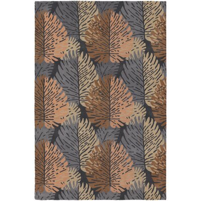 Fitzgerald Blue/Orange Area Rug Rug Size: Rectangle 79 x 106